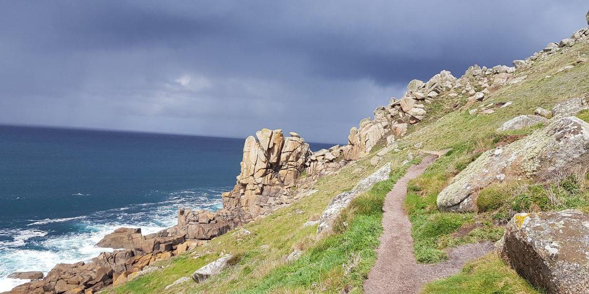 Het ruige South West Coast Path