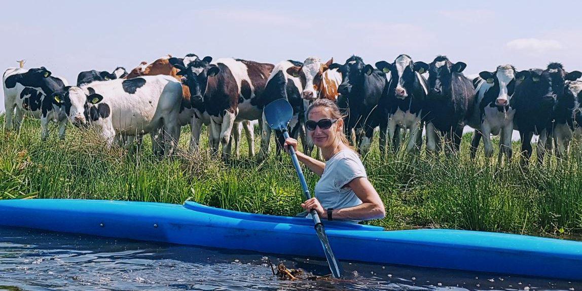 Kajakken in het veenweidegebied
