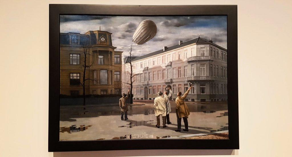 De zeppelin - Carel Willink -1933 in museum MORE