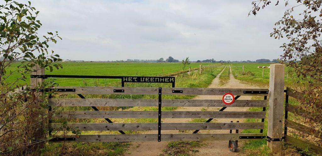Een mooi hek in de polder