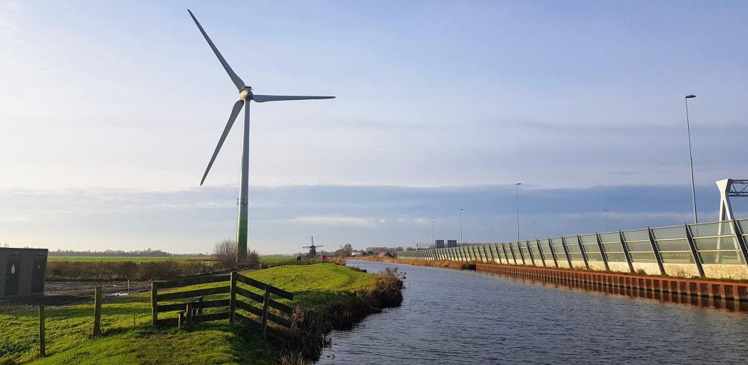 Windmolens langs de A4